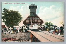 US Life Saving Station Boat Launch KELLEYS ISLAND OH Erie County Lake 1910