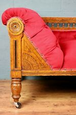 More details for aesthetic movement / arts and crafts oak chaise longue / daybed (1008920)