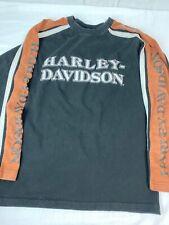 Harley Davidson Mens Size M 1903-2008 105 Years Long Sleeve Jersey Sweatshirt