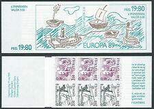 1989 SVEZIA LIBRETTO EUROPA MNH ** - A1