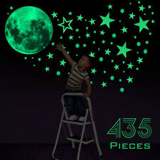 435Pcs Glow In The Dark Lumino Stars Moon Planet Space Wall Stickers Decal US