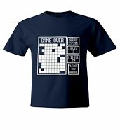 Classic Tetris Game over Try Again Mens Unisex Top T-Shirt Short Sleeve Shirts