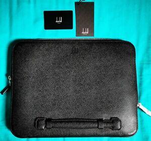 Dunhill Folio Large Black Leather New