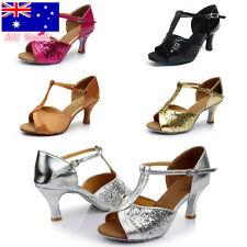AU Women Classic Tango High Heels Salsa Dancing Party Heels Ballroom Latin Shoes