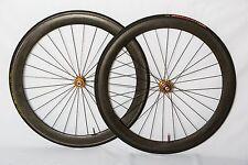 Ambrosio Carbon Tubular Wheelset TUNE Hubs Campagnolo w/ Tubes