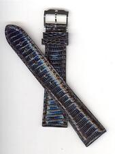 Movado 22mm Genuine Lizard Black Long Length Men's Watch Band 56930-2278