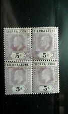 Sierra Leone #84 MNH block of 4 e208 10683