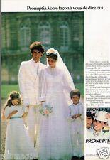 Publicité advertising 1980 Les Robes de Marié Pronuptia