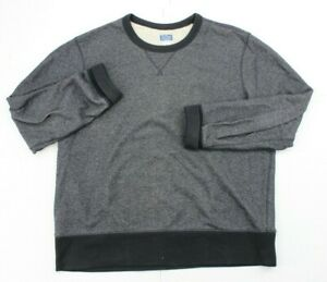 J Crew Vintage Fleece Charcoal Gray Soft Cotton Pullover Crew Neck Sweatshirt LG