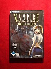Vampire - The Masquerade: Bloodlines (PC, 2004, DVD-Box) uncut - inklusive Heft