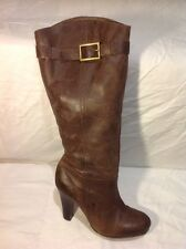 F&F Signature Brown Knee High Leather Boots Size 6