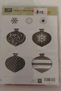 Retired Stampin Up Stamp Set - Delightful Decorations 1