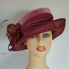 Ladies Wedding Races Mother Bride Ascot Hat Pink Velvet by Emma B Balfour