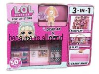 LOL Surprise Doll Pop Up Store 3 N 1 Play Set Display Case Stand Storage 2 4