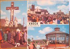 Irish Postcard KNOCK Multiview Crucifix Shrine Outdoor Mass Ireland Dollard 4x6