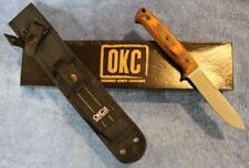 "Ontario 8696 Bushcraft 5"" 5160 Carbon Steel Fixed Blade Knife Nylon MOLLE Sheath"