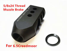USSell All Steel 5/8x24 Thread Tanker Muzzle Brake for 6.5 Creedmoor With Washer