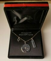 """Silver Plated Pendant Necklace Loaded w/ Swarovski Crystals ~ 18"""" L ~ New In Box"""