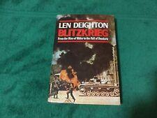 Blitzkrieg Rise of Hitler to the Fall of Dunkirk Len Deighton 1980 Hardcover