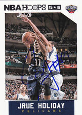 JRUE HOLIDAY NEW ORLEANS HORNETS PELICANS SIGNED CARD INDIANA PACERS 76ERS UCLA