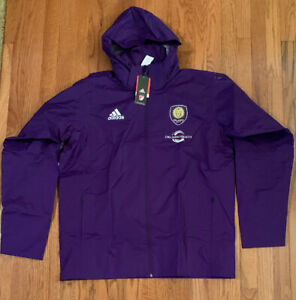 Mens Orlando City SC adidas Coaches climastorm Full-Zip Jacket 6508A XL NWT $150