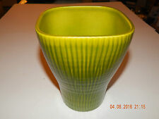 MODERN SCHEURICH GREEN RIBBED PLANTER OR VASE 695-17 GERMANY