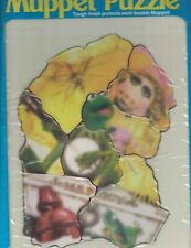 Jim Henson Muppet Puzzle #599 Fisher-Price Sealed Kermit & Miss Piggy 1981