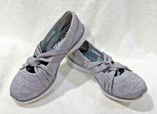 Skechers Women's Microburst Knot Concerned Gray Slip On Shoes-Sz 7/7.5/9.5/10 NB