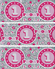 1ST BIRTHDAY GIRL BANNER PACK FOIL PINK WALL DECORATIONS (PA 571)