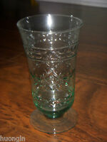 RARE Mikasa Studio Nova ADIRONDACK Tall Green Glass ICED TEA BEVERAGE - NEW