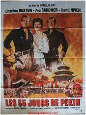 LES 55 JOURS DE PEKIN Affiche Cinéma ORIGINALE / Movie Poster CHARLTON HELSTON