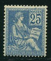 "FRANCE  N° 118  ""  MOUCHON 25c BLEU TYPE II  "" NEUF  XX TB, SIGNE"