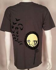 Nightmare Before Christmas Shirt Sz L Tee Jack Skellington Full Moon Bats