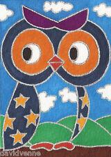 Venne Canvas Giclee ACEO Print - Owl