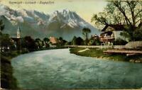 2034: Postkarte Ansichtskarte Garmisch Loisach Zugspitze 1910