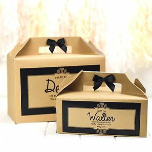 PERSONALISED WEDDING GIFT BOX FAVOUR | KRAFT ORNATE | CHILDREN'S ACTIVITY BAG