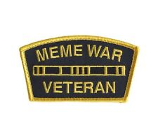 MEME WAR VETERAN MEDAL RACK Morale Patch Everyday No Days Off ENDO troll