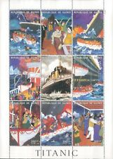 Guinea  RMS Titanic Commemorative Stamp  block MNH with coa