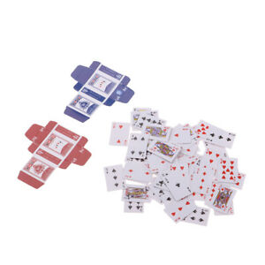 1 Sets Miniature Playing Cards Poker Dollhouse 1/6 Scale Games Accessories
