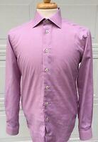 Eton Contemporary Mens Long Sleeve Dress Shirt Size 15/38 Color Pink