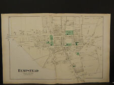 New York Long Island Map 1873 Hempstead, Double Page N3#72
