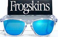 NEW* Oakley Frogskins Clear Crystal PRIZM Sapphire Iridium unglass oo9013