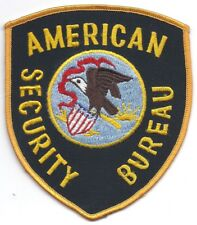 **AMERICAN SECURITY BUREAU POLICE PATCH**