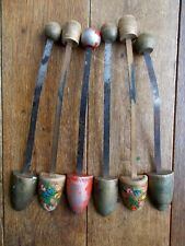 6 ANTIQUE~VINTAGE WOODEN AND METAL SHOE STRETCHERS~SHABBY CHIC