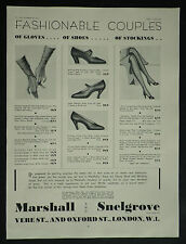 Marshall Snelgrove Flapper Shoes 1931 Page Ad Advertisement