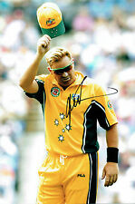Shane WARNE Signed Autograph 12x8 CRICKET Leg Spin Bowler Photo AFTAL COA