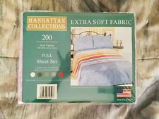 Manhattan Collections Extra Soft Fabric Full Sheet Set