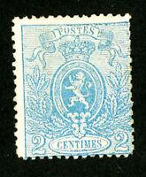 Belgium Stamps # 25b F OG LH Scott Value $140.00