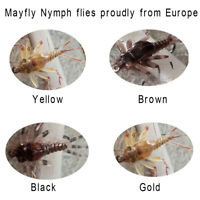 Riverruns Realistic Flies Mayfly Nymp Flies Colors Trout Super Sturdy flies
