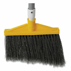 """Rubbermaid Commercial Angled Large Broom, 48.78"""" Handle, Silver/Gray 6385GRA"""